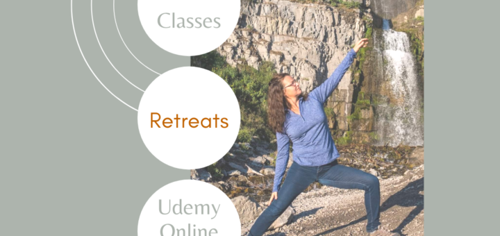 yoga while hiking